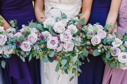 Lavender Roses, Historic Londontown and Gardens, Londontown wedding, Annapolis wedding, baltimore wedding florist, violet floral designs, maryland wedding flowers, bridesmaids bouquets, cascade rose bouquet