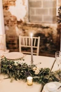 baltimore wedding florist, garlands baltimore, mt washington mill dye house, dye house wedding, industrial chic wedding baltimore, eucalyptus wedding, violet floral designs